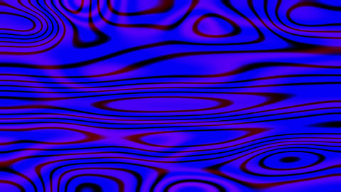 Deep Blue Liquid Psychedelic Motion Background Loop 2 Animation