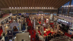 Aerial: 41st International exhibition of medical, laboratory, dental equipment a Footage