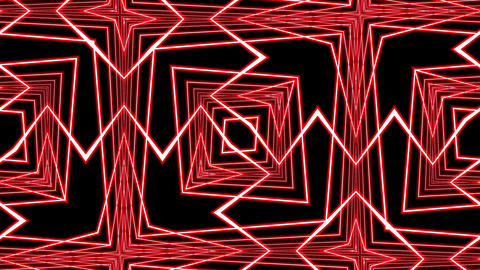 Red Pulsing Intricate Symmetry Pattern Abstract Motion Background Loop 1 Animation
