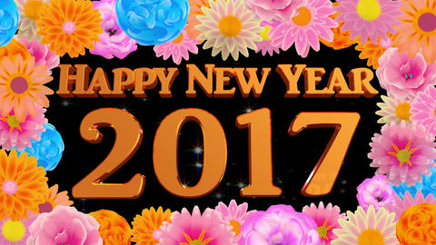 countdown Happy new year 2017 Animation