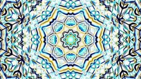 Metallic Chrome Colorful Hypnotic Rotating Kaleidoscope Motion Background Loop 3 Animation