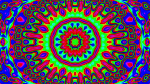 Psychedelic Colorful Stained Glass Kaleidoscope Motion Background Loop Fast 2 Animation