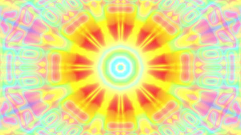 Colorful Glowing Luminous Kaleidoscope Mandala Motion Background Loop Fast 2 Animation