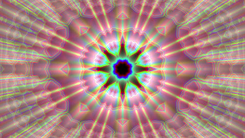 Burst Rays Ornate Magic Psychedelic Kaleidoscope VJ Motion Background Loop 2 Animation