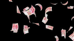 Chinese RMB drop Animation