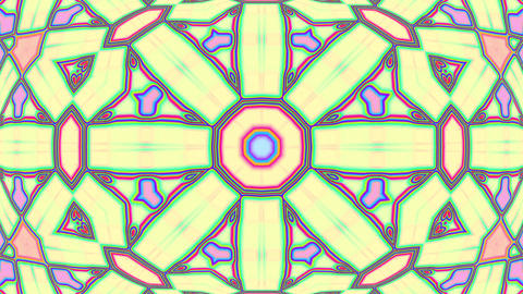 Light Pastel Ornate Psychedelic Kaleidoscope VJ Motion Background Loop 2 Animation