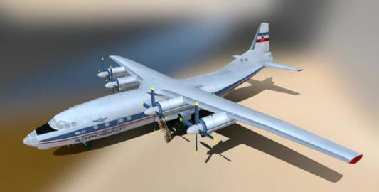 Antonov an 12 3D Model
