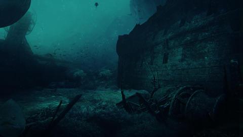 Deep blue underwater footage Animation