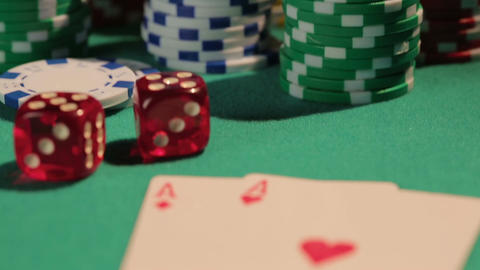 Pair of aces brings victory to poker player, gambling addiction problem, casino Footage
