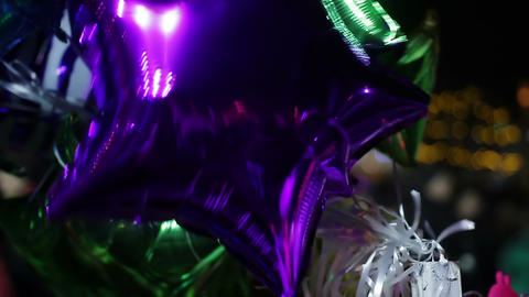 Many bright balloons creating atmosphere of happiness at celebratory party Footage