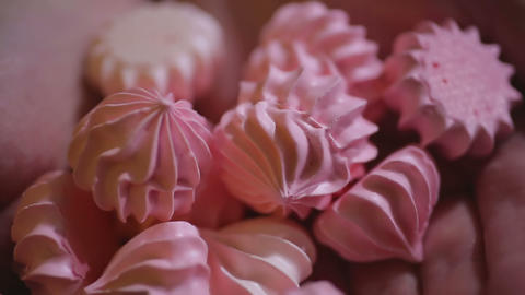 Closeup shot of appetizing sweets, delicious handmade dessert, confectionery Footage