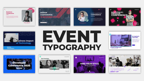 Event Typography After Effects Template