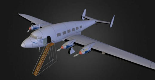 De havilland dh 91 albatross 3D Model