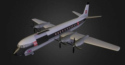 Vickers vanguard 3D Model