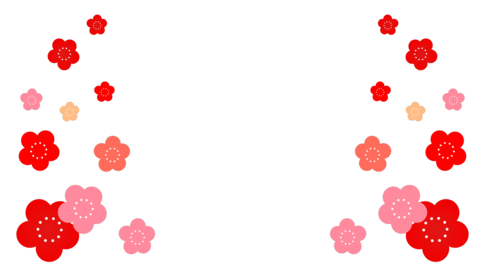 Japanese-style flowers (plum) Round and round video (transparent) Animation