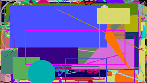 Random graphics shapes animation GIF