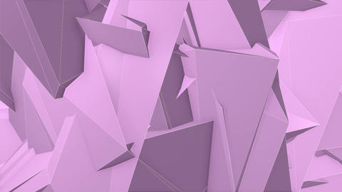 Abstract Pink Angular Polygons Retro Futuristic 3D Motion Background VJ Loop 1 Animation