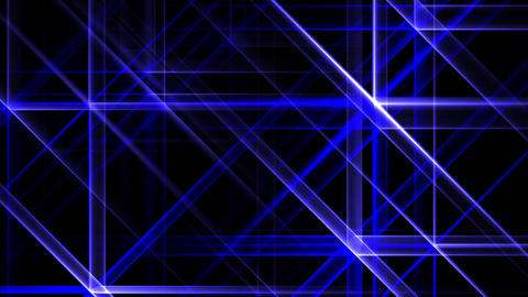 Blue Night Abstract Lights Flashes Rays Stars VJ Motion Background Loop Animation