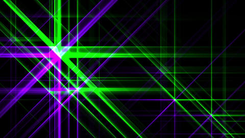 Green Purple Night Abstract Lights Flashes Rays Stars VJ Motion Background Loop Animation