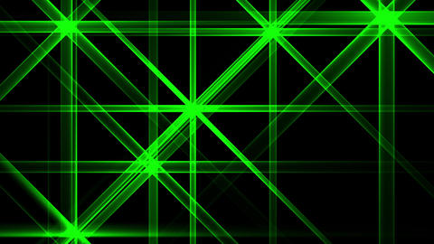 Green Night Abstract Lights Flashes Rays Stars VJ Motion Background Loop Animation