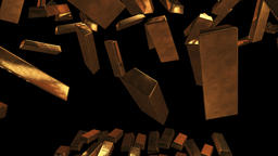 Gold bullion accumulation Animation