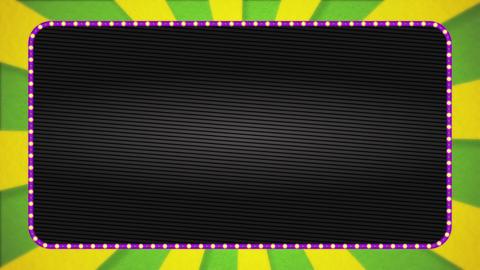 Yellow-green / yellow radiation background base / purple illuminated frame / black base / text space Animation