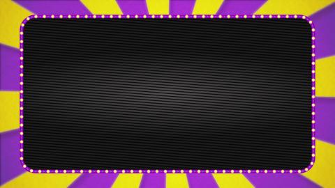 Purple / yellow radiation background base / purple illumination frame / black base / text space Animation