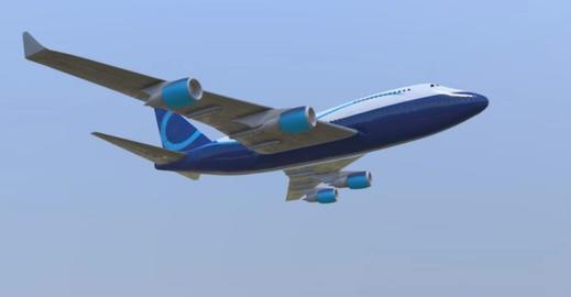 Boeing 747 3D Model
