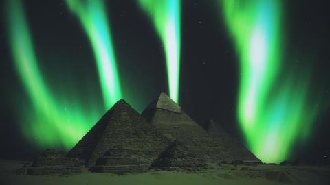 Pyramids aurora Egypt aurora lights aurora Pyramids borealis Egypt borealis lights borealis Animation