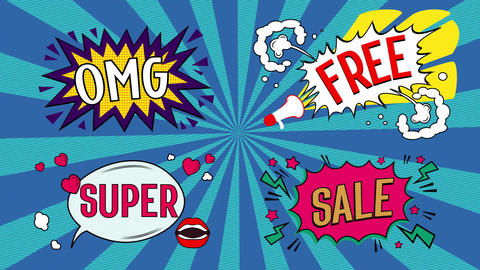 Comic Sale Templates After Effects Template