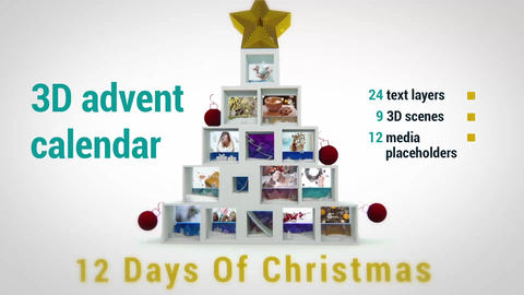 12 Days of Christmas After Effects Template