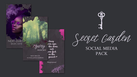 Secret Garden. Hand Drawn Pack After Effects Template