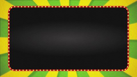 Yellow-green / yellow radiation background base / red illuminated frame / black base / text space Animation