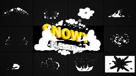 Snow Blasts After Effects Template