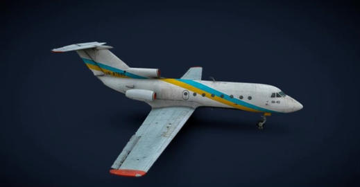 Yakovlev yak 40 3D Model