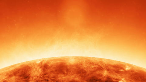 Animation of atmosphere solar in the sun with flames anda blazes Animation