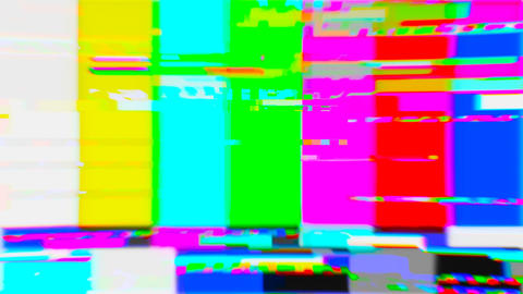 No signal screen in pixel art style grunge in 80 90 Color pixel Tv screen Animation