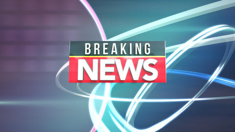 Animation text News Breaking and news graphic with lines and circles in studio Animation