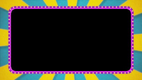 Light blue / yellow radiation frame animation / purple illumination / with alpha Animation