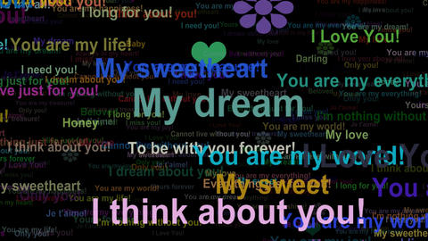 Love Concept Words 2