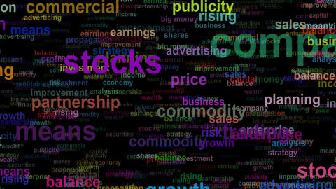 Business concept words, seamless loop Animation