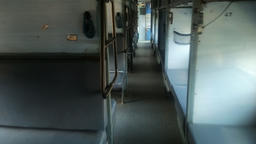 inside classical Indian passenger train Footage