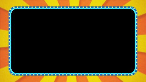 Orange / yellow radiation frame animation / light blue illumination / with alpha Animation