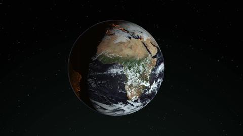 View earth rotating planet rotating zoom rotating earth spinning planet spinning Animation