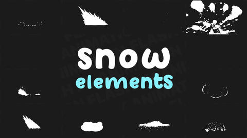 Snowy Elements After Effects Template