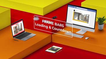 Loading And Countdown - Frame Bars After Effects Template