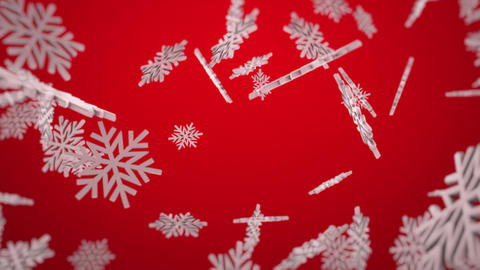 3d Snowflakes Background Animation