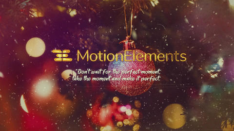 Elegant Christmas Slideshow After Effects Template