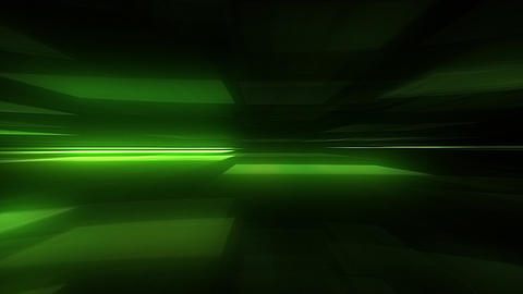Glowing Blurred Light Rays Loop Motion Background - Green Color Animation
