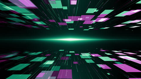 Particles green pink event game trailer titles cinematic concert stage background loop Animation